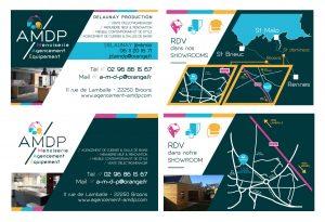 Cration Carte De Visite Pour La Socit AMDP Une Magasin Et Nominative Avec Plan Situation